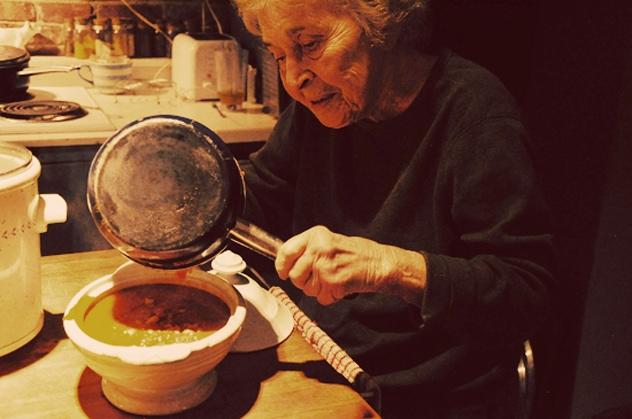 Dinner at Grandma Pellegrini's