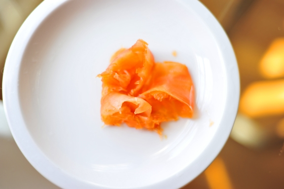 """Citrus Cured Smoked Salmon"""