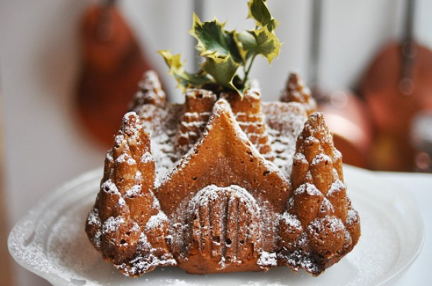 """Gingerbread Castle Bundt Cake"""