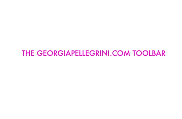 Let's Be Together Always: GeorgiaPellegrini.com Toolbar