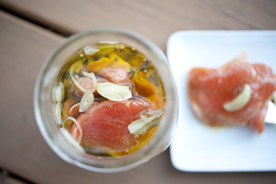 """Homemade Gift: Preserved Salmon in a Jar"""