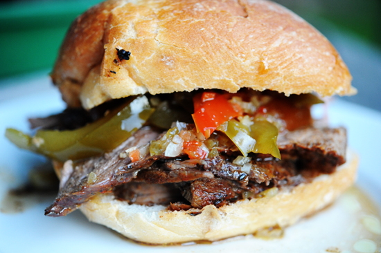 """Chicago-Style Beef Sandwich"""
