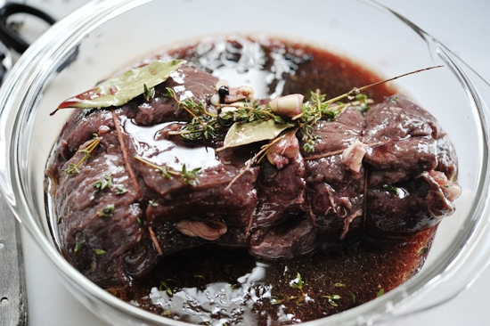 Venison Roast with Red Wine & Juniper Berries