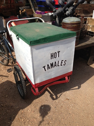 And this hot tamale cart. I may start pedaling hot tamales in my spare ...