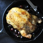 Boneless Chicken Stuffed with Bing Cherries