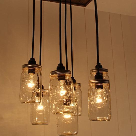 mason-jar-chandelier-mason-jar-lighting-upcycled-wood