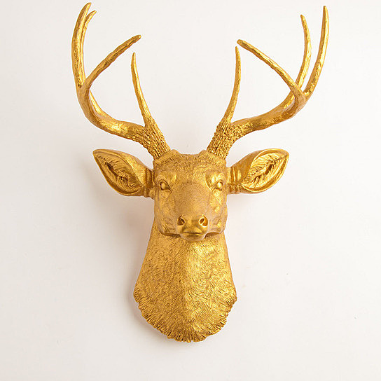 the-franklin-gold-resin-deer-head