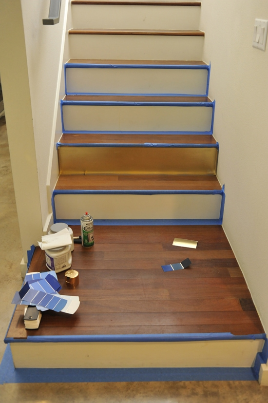 How To Stencil Your Staircase The Official Site Of Geia Delightful What Kind Paint Use On Stair
