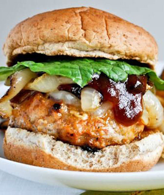 BBQ Chicken Burger – How Sweet Eats