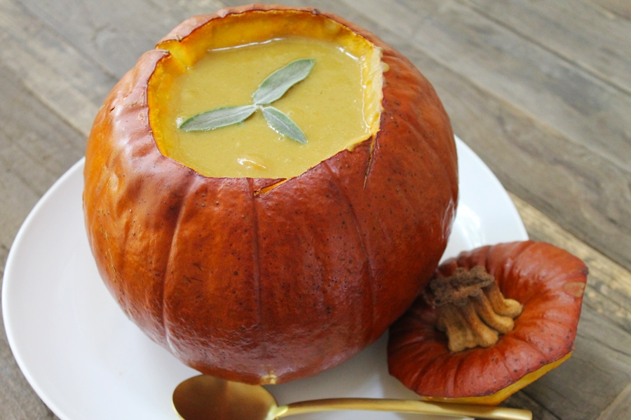 Pumpkin Bourbon Soup