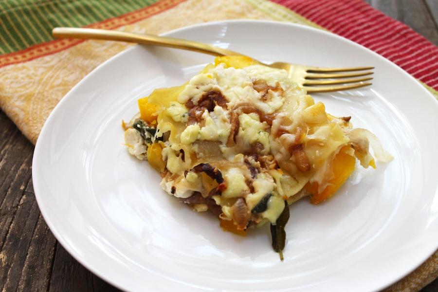 Three Cheese Pumpkin Lasagna