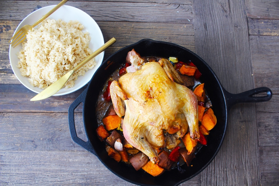 Video: Roasted Chicken with Riceland Brown Rice
