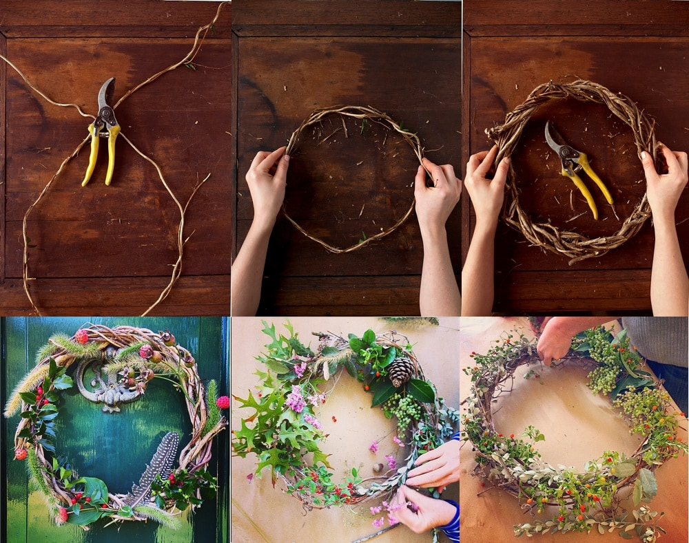 How to Make a Wreath from Nature