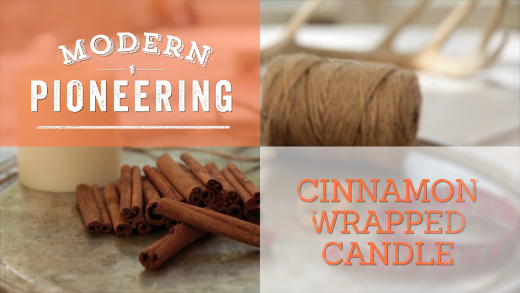 Cinnamon Wrapped Candle