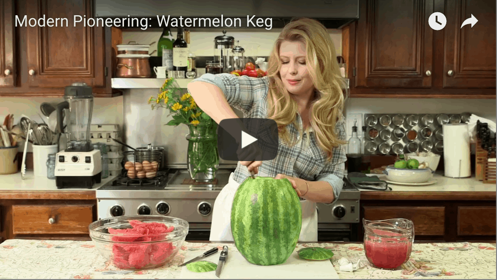 Modern Pioneering Video: Watermelon Keg