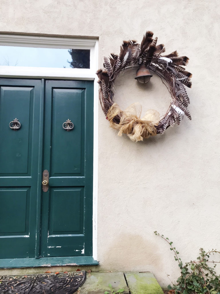 How to Make a Feather Wreath