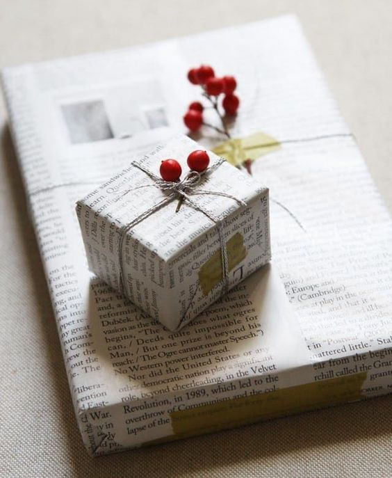 DIY Newsprint Wrapping Print