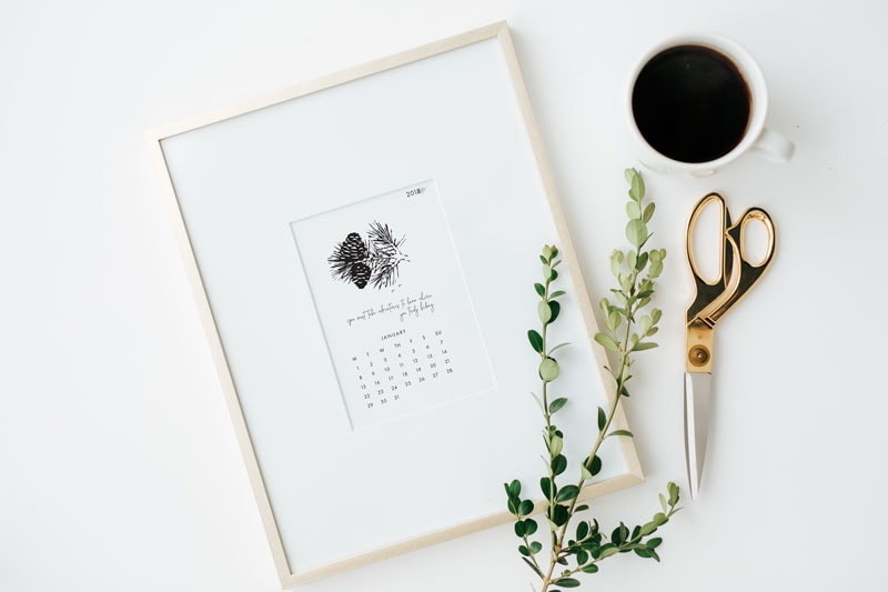 January Printable Desk Calendar