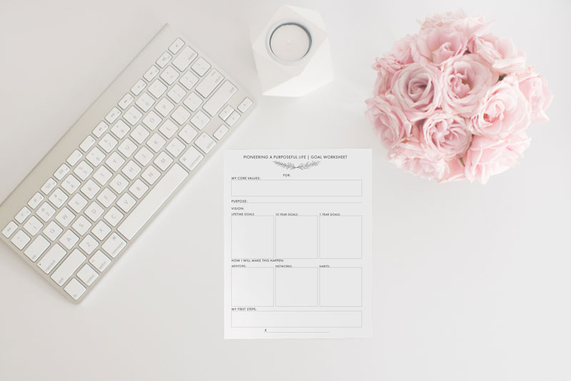Pioneer a Purposeful Life: A Printable Goal-Setting Worksheet