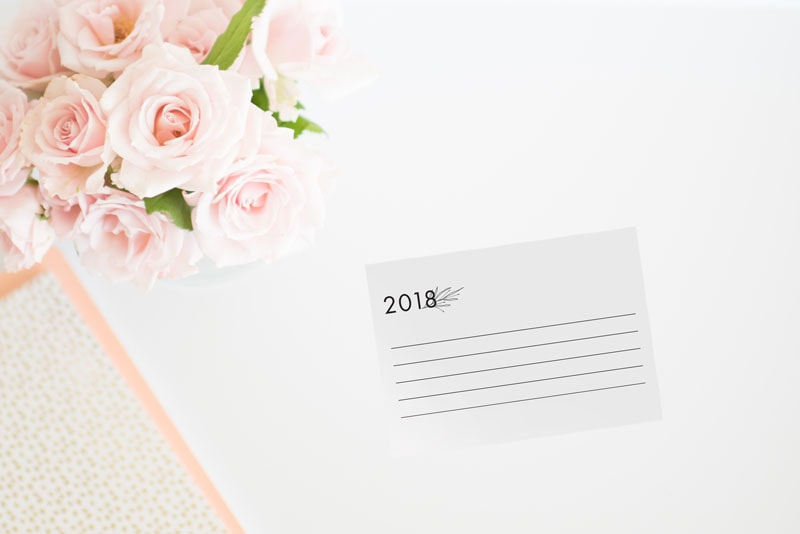 Pocket Intentions 2018: Free Printable