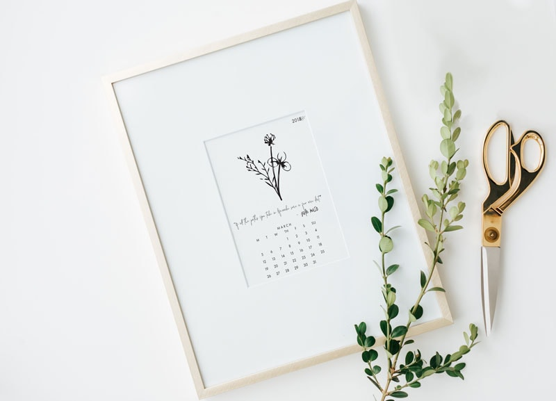 March Printable Desk Calendar