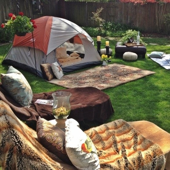 How to Backyard Glamp: