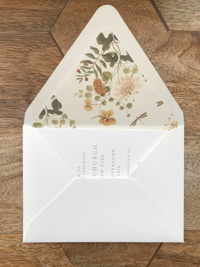 How to Line Your Envelopes