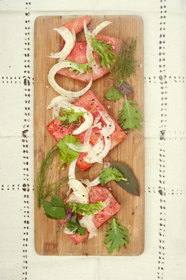 Tipsy Watermelon Salad