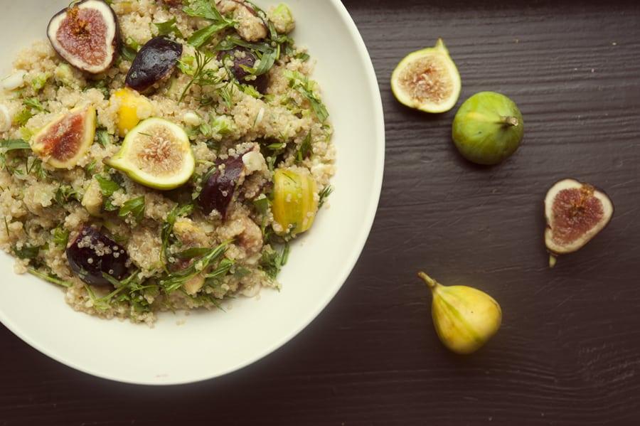 Fig and Quinoa Salad with Lemon Vinaigrette