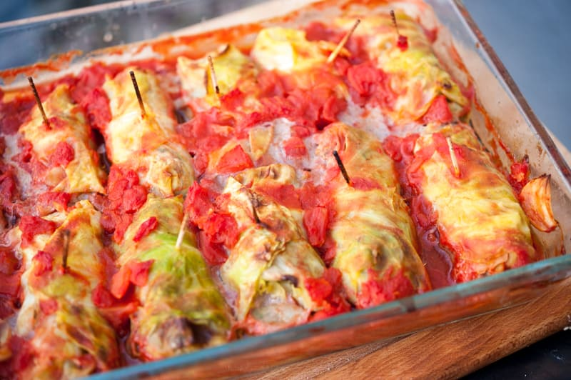 Elk Stuffed Cabbage Rolls