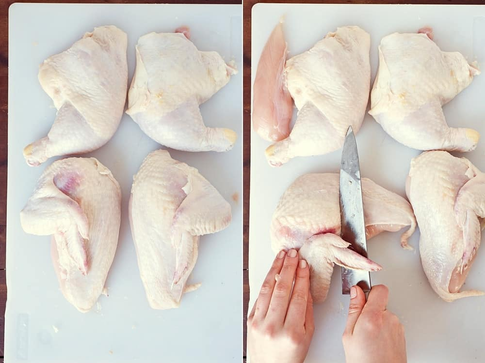 How to Quarter a Chicken