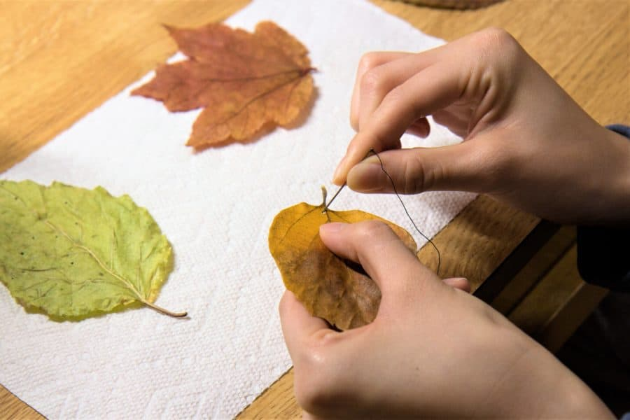 How to Make Gift Tags Out of Autumn Leaves 4