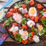 Baked Eggs with Axis Venison and Tahini