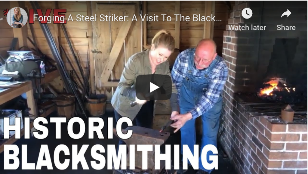 Forging a Steel Striker with the Blacksmith