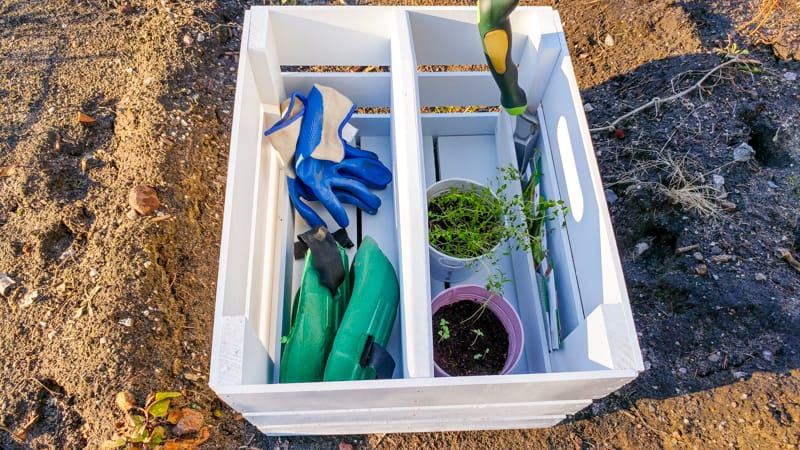 DIY Garden Tool Caddy