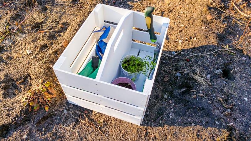 How to Make a DIY Garden Tool Caddy